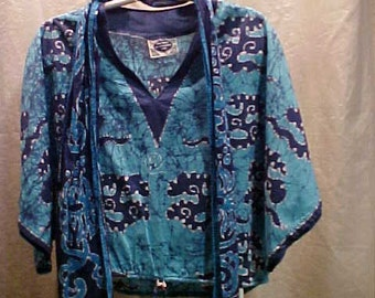 West Indian Hippie Style Shirt with Scarf