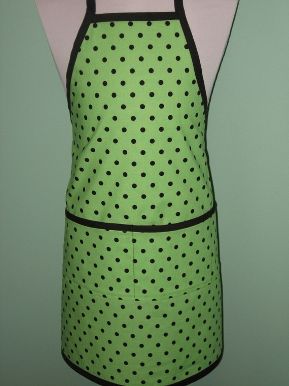 Child's Cotton Arts, Crafts and Cooking  Apron - Size 4 to 6 -   Michael Miller's Ooh-La-Dot