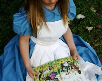 Alice in Wonderland Dress size  7 to 12 Child's Size Alice dress