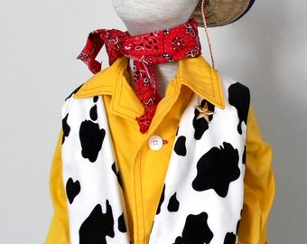 Woody Shirt and vest Costume. Size 2 to 6