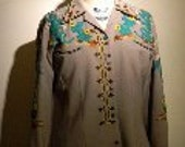 Nathan Turk Western Suit with Cactus Motif