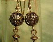 Downton Abbey Inspired Filagree Globe Earrings