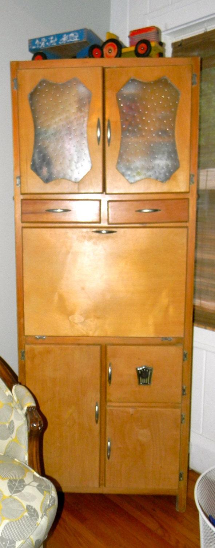 Vintage Art Deco Kitchen Hoosier Cabinet