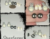 My Neighbor Totoro stud earring gift set with gift box