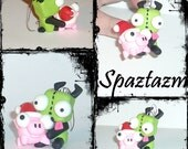 Invader zim inspired Gir with xmas pig Ornament Customization