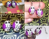 Purple Poison Death shroom Earrings