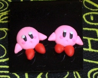 Small and cute Kirby stud post earrings