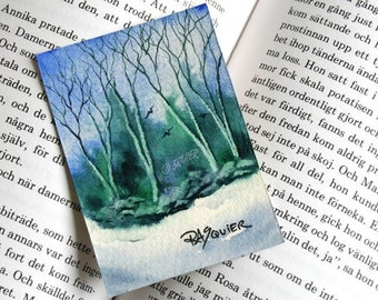 Winter Calm an Original Watercolor Painting aceo