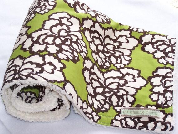 baby Blanket--Avacado Floral--Sale