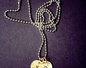 Simple Hugs and Kisses Charm Necklace