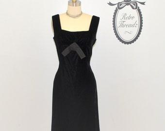 Vintage Formal Dress /  1960s Evening Dress / Wiggle Dress / Little Black Dress / Philippe Tournaye