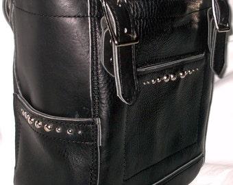 Original Designer Black Leather Studded Purse by Ginger
