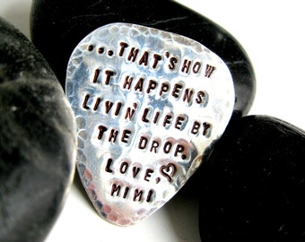 Guitar Pick- sterling silver-customizable