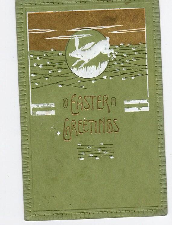 Happy Easter  Rabbit  Vintage  PostCard - Post Card