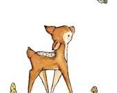Children's Art -- A Little Bird Told Me -- Art Print