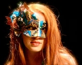 "Custom ""Treasure"" Mask - OOAK Gypsy Mask of Upcycled Materials - Made to Order, Choose Your Colors"
