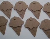 8 ICECREAM CONES Raw CHiPBOARD Bare Die Cuts