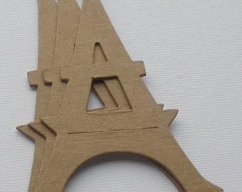 """EiFFEL TOWER -  Vintage Towers Paris Bare CHiPBOARD Die Cuts - 3 1/16""""  x 5"""""""