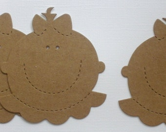 4 BABY FACE -  Raw CHiPBOARD Bare Die Cuts
