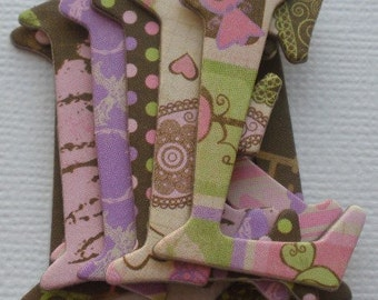 SMOOCHABLE - Chipboard Letters - Cupcakes and Candy - Alphabet  Die Cuts 1.5 inch