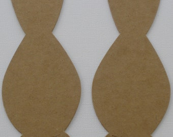 6 VASE for Flowers -  Raw Bare Unfinished Chipboard Die Cuts