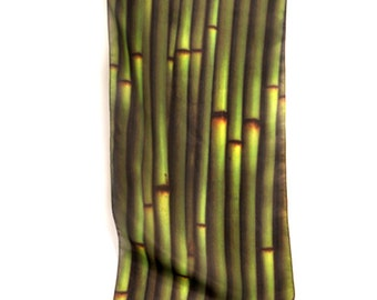 "SILK SCARF  -  ""Snake Grass"" Fine Art Nature Image on Habotai Silk   -  14"" x 72"" - wearable art"