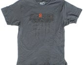 Mens T-Shirt Red Hook Industrial Sign in Grey