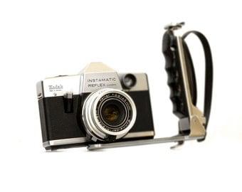 Black and White Hipster Kodak Instamatic SLR Camera Print Photograph Retro Mod Decor