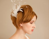 RESERVED for LUCY 50% off Petite Feather Bridal Fascinator
