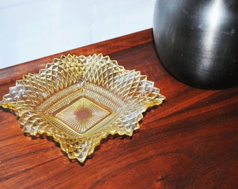 Ornate Vintage Glass Candy Dish