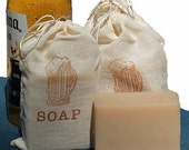 BEER Soap - Handmade Cold Process Soap Bar, made with Corona - graduation,groomsmen,Father's Day,masculine,mens gift,for him,muslin bag