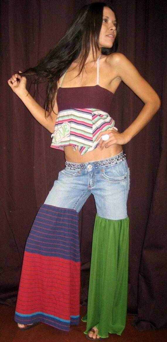 LOVE Hippie Recycled Halter Tube Top or Mini Skirt