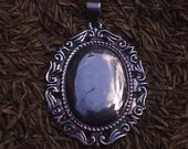 Large Sterling Silver Luggage Tag Pendant