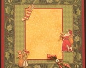 CLEARANCE- Santa- Christmas 12x12 layout- WAS 7.95