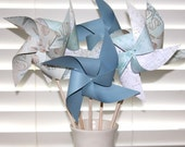 Pinwheels 6 Large Twirlable Pinwheels BEACH NAUTICAL THEME Seashell
