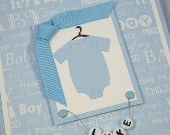 Personalized Baby Boy Onesie Card