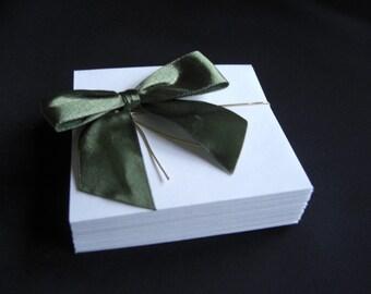 3 1/8 Inch Square Envelopes White, Set of 25