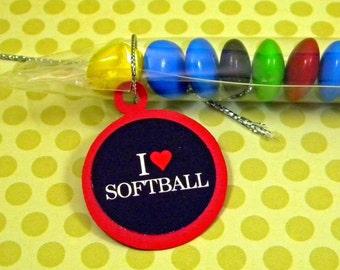 Softball Candy Treat Bag Favors Set of 12 - I Heart
