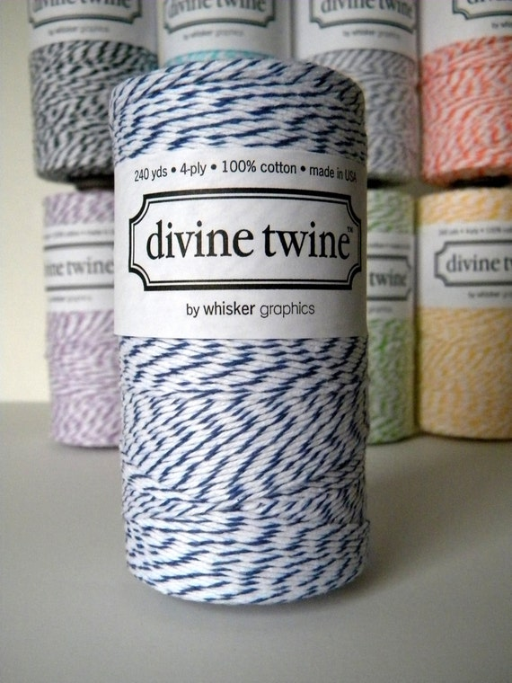 Navy Blue Baker's Divine Twine, 240 Yards, 720 Feet