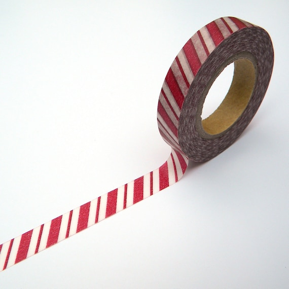 Red Washi, Stripes, Japanese Masking Tape, Scrapaholic