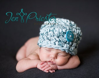 SALE Baby Hat, Newborn Baby Hat, Newborn Photo Prop, Knit Baby Hat, Button Hat, Baby Photo Prop, Baby Boy Hat