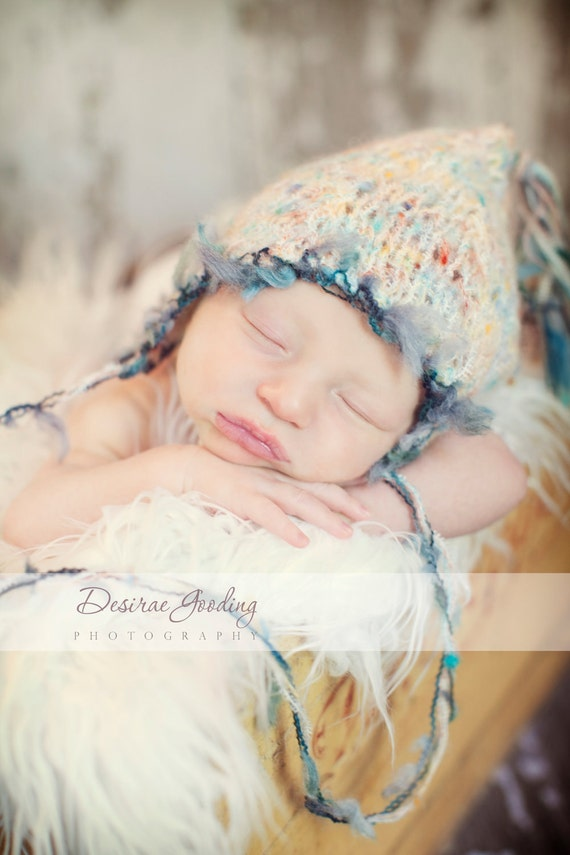 Baby Hat, Newborn Baby Hat, Baby Photo Prop, Knit Photo Prop, Stocking Hat, Pixie Hat