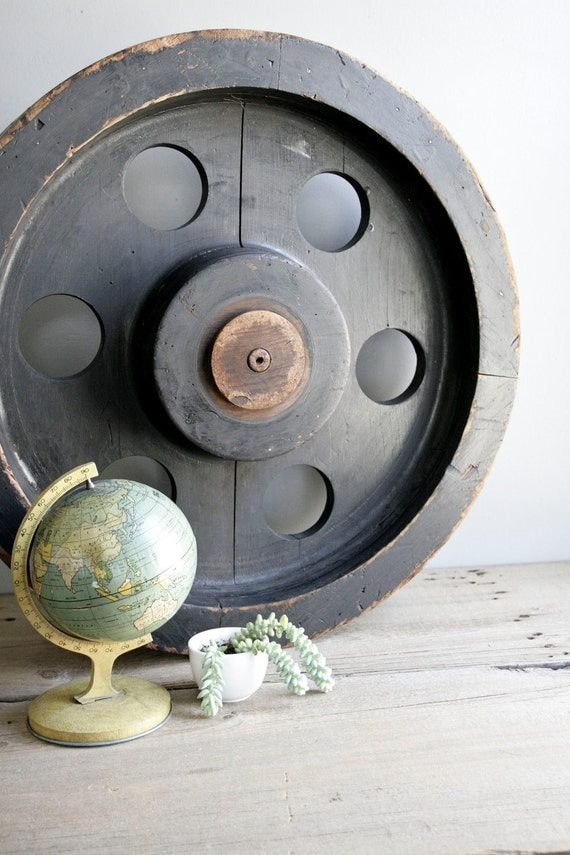 huge foundry mold / machine age industrial decor / no. 5