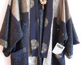 Black and Gold Jacquard Cardigan-Style Jacket