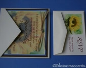 Sunflower Blossom, a sunflower wedding invitation.