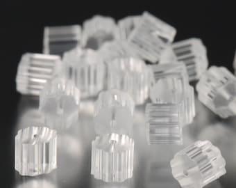 Rubber earring backings 3x3mm PVC earnuts (100)