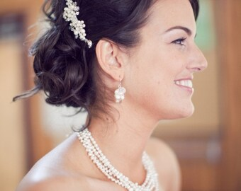 Wedding Hair Comb Bridal Hair Accessory with Pearls and Crystals and Rhinestones Best Seller