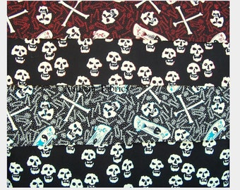 Skate & Skull by Alexander Henry Fabrics - by the yard