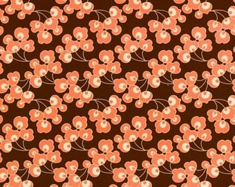 SALE Home Decor Fabric - August Fields by Amy Butler - Bright Buds in Chocolate HDAB14 - 1 yard