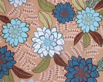 SALE Lindsay Floral TT3946BG Beige,  1 Yard - Timeless Treasures Karen Montgomery